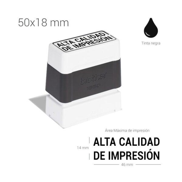 Sello preentintado 18x50 mm
